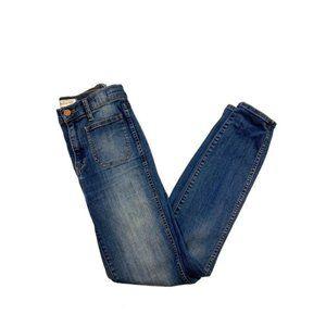 Madewell High Waisted Sailor Skinny Jeans